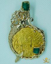PERU 1715 FLEET 8 ESCUDOS PENDANT NECKLACE JEWELRY PIRATE GOLD COINS SHI... - $19,950.00