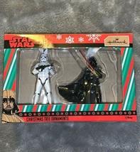 Hallmark Disney Star Wars Stormtrooper & Darth Vader Christmas Tree Orna... - $20.00