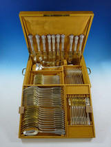 Kings by Campenhout French Sterling Silver Flatware Set Service 75 PC Fitted Box - $8,122.50