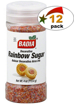 Badia Rainbow Sugar - 4 oz. - Pack of 12 - $27.85