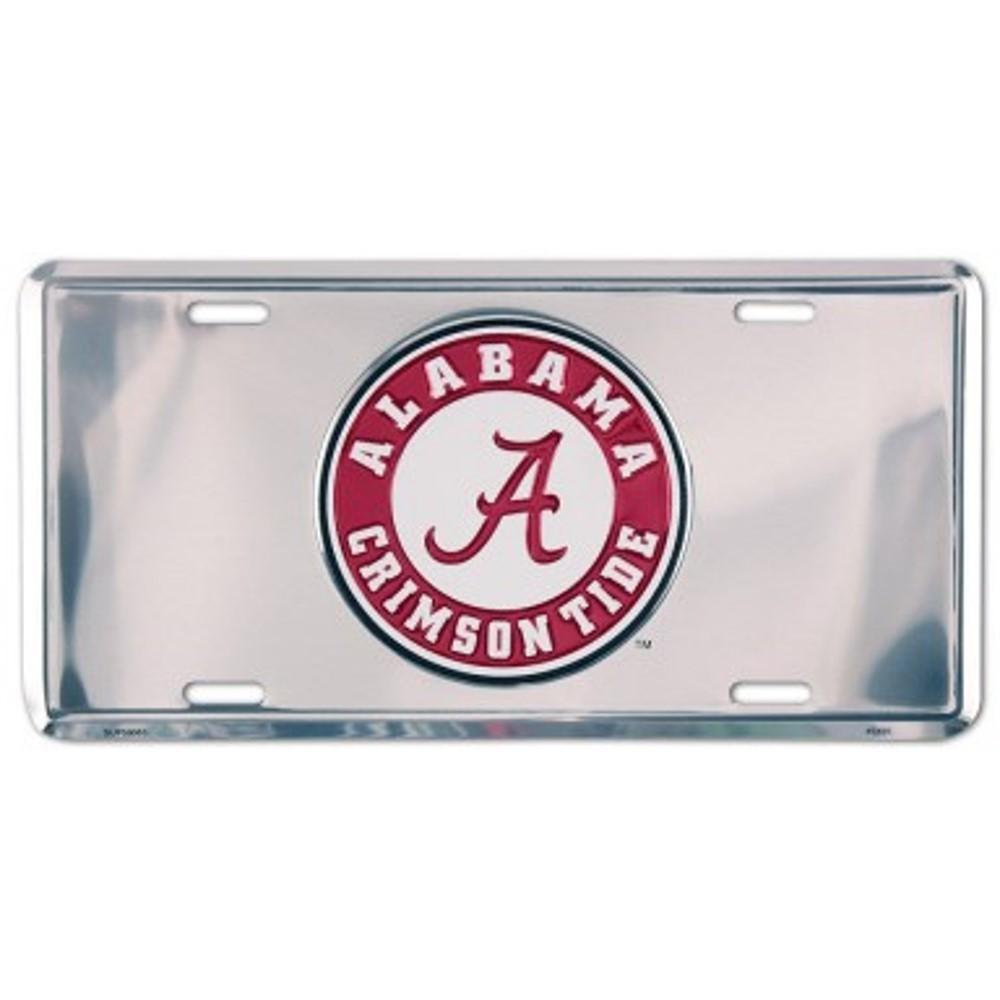 Alabama Crimson Tide Chrome Embossed Metal License Plate Auto Tag Sign - $6.95
