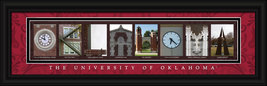 University of Oklahoma Sooners Officially Licensed Framed Campus Letter ... - $39.95