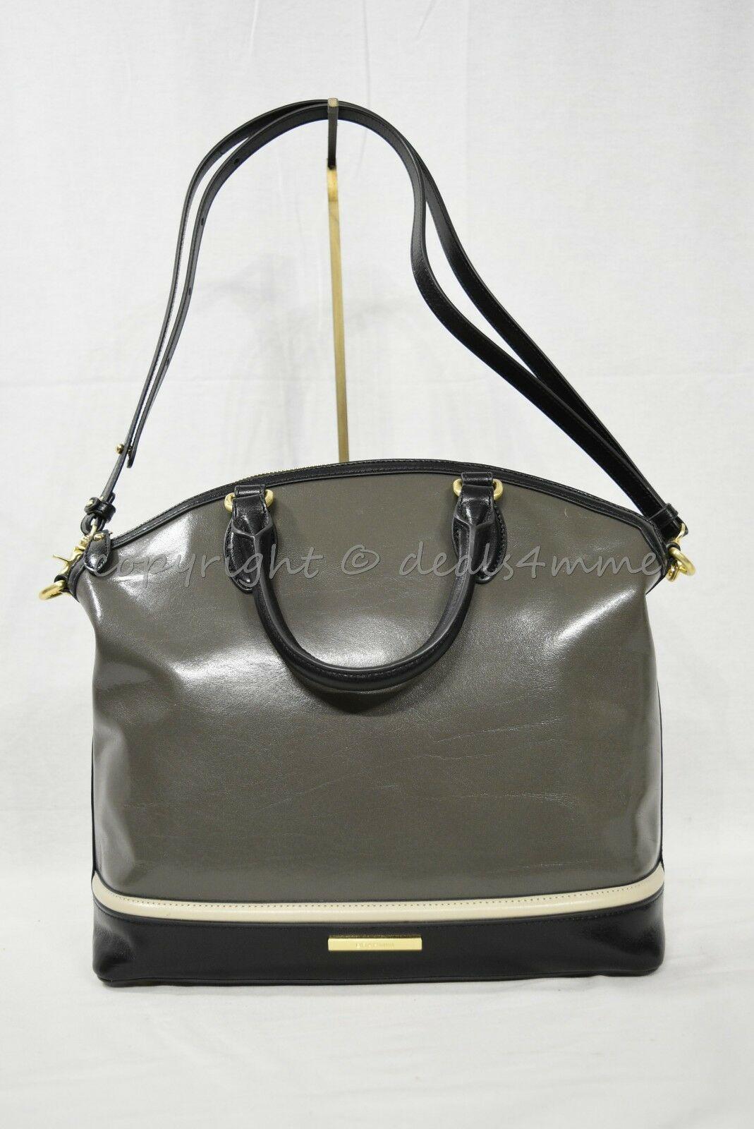 NWD Brahmin Large Duxbury Satchel/Shoulder Bag in Charcoal Westport image 3