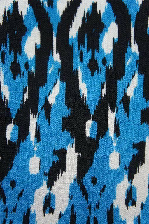 Anne Klein Dress Sz 12 Capri Blue Multi Sleeveless V-Neck Swing Career Cocktail image 9