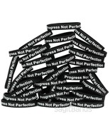 100 Progress Not Perfection Wristbands Motivation Inspiration Recovery B... - $58.29