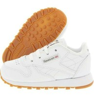 Reebok Unisex Kids Classic Leather Walking Sneakers White Size 13 M US - $18.49