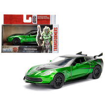 2016 Chevrolet Corvette Crosshairs Green From Transformers 5 Movie 1/32 ... - $15.07
