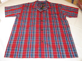 Men's Polo Sleep shirt PJ night shirt logo L large P506SR red navy blue ... - $59.39