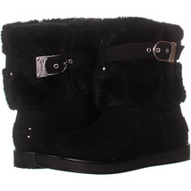 G By Guess Aussie Winter Boots 220, Black Fabric, 7 US - $31.38