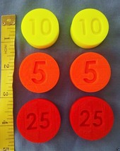 LOT 6 Replacement Coins compatible Fisher Price Cash Register 2044 & 926... - $8.70