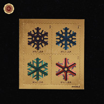 2015 Gold Foil Stamps Geometric Snowflakes Christmas Gift Office Desk De... - $5.69