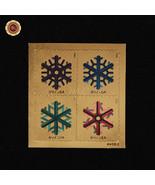 2015 Gold Foil Stamps Geometric Snowflakes Christmas Gift Office Desk De... - ₹404.65 INR