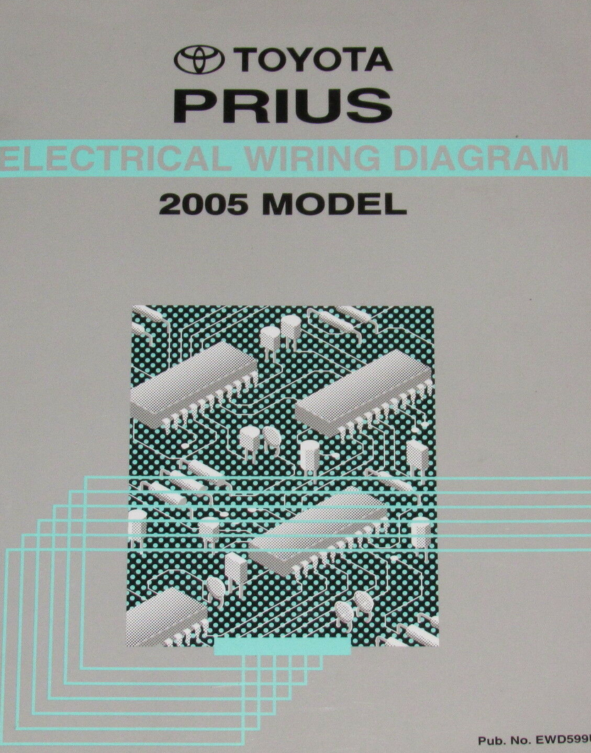 Primary image for 2005 Toyota Prius EWD Electrical Wiring Diagrams Manual Factory OEM WORN 05