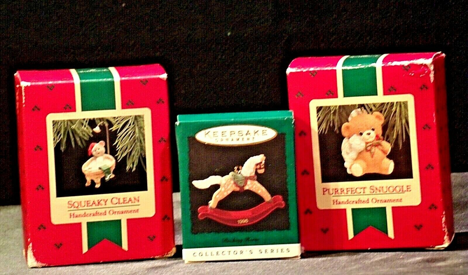 Hallmark Handcrafted Ornaments AA-191769 Collectible ( 3 pieces )
