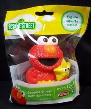 Sesame Street friends Bath Squirter Elmo holding star Playskool Hasbro NEW - $4.95