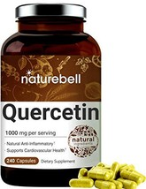 NatureBell Quercetin 1000mg Per Serving, 240 Capsules, Powerfully Supports Cardi