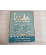 Chrysler Six Cylinder Marine Engines Maintenance Manual 81-770-7553 - $26.87