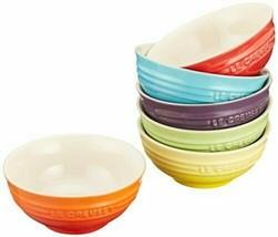 2Le Creuset Mini Bowl Heat-Resistant Ceramic 6 Pieces Rainbow Collection - $108.14