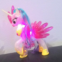 "MY LITTLE PONY 8.5"" Princess Celestia LightUp Toy Clear Led MultiColor D... - $10.99"