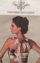 Vogue American Designer Tracy Reese Fitted Bra Top Dress Size 6-14 Patte... - $12.00