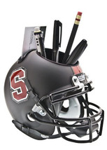 Stanford Cardinal (Black) NCAA Football Schutt Mini Helmet Desk Caddy - $21.95