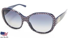 New Tory Burch TY7108 16594L Blue Zig Zag /BLUE Grey Lens Sunglasses 56-16-135mm - $87.11