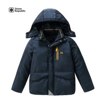 boy winter wind resistant heavy jacket warmer outwear - $48.00