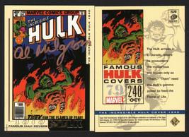 Al Milgrom SIGNED Incredible Hulk Famous Comic Covers Upper Deck Marvel ... - $24.74