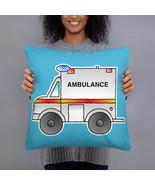 Ambulance Car Toy Cartoon Vehicle Pillow Cushion - $28.50+