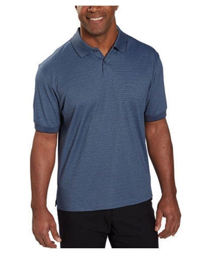 Hudson River Heritage Classics Men's Polo Shirt, Glacier Blue.