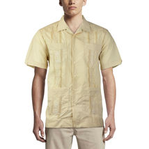 Alberto Cardinali Men's Guayabera Short Sleeve Cuban Casual Dress Shirt image 4