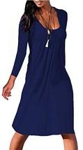 NIASHOT Women's Casual Shift Dresses 3/4 Sleeve Loose Swing Dress Knee L... - $22.00