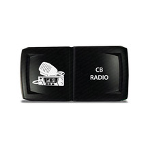 CH4x4 Rocker Switch V2 CB Radio Symbol - Horizontal - White LED - $16.44