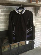 Coldwater Creek Womens Purple Black Lightweight Full Zip Athletic Jacket... - $18.99