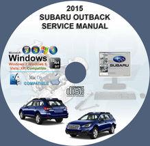 Subaru Legacy Outback 2015 Workshop Service Repair Manual - $15.00