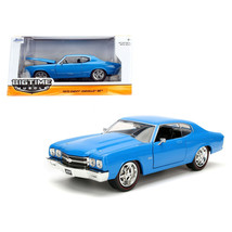 1970 Chevrolet Chevelle SS Blue 1/24 Diecast Model Car by Jada 97828 - $30.60