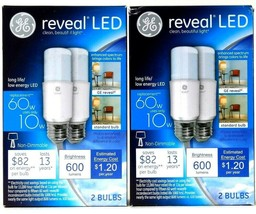 2 Boxes GE Reveal LED 10w 600 Lumens Long Life Low Energy 2 Count Bulbs - $19.99