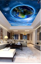 3D Earth World Ceiling WallPaper Murals Wall Print Decal Deco AJ WALLPAP... - $34.47+
