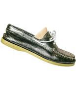 Sperry Top Sider Women's Metallic Silver Boat Deck Shoe Size 8.5 M - $29.20