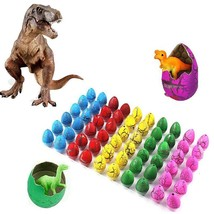 Novelty Colorful Eggs Toys Hatching Dinosaur Grow Easter Dino Egg 60PCS - $20.39