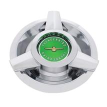 United Pacific Chrome w/Green Center T-Bird Hubcap for 1962-63 Ford T-Bird Wire  - $67.09