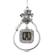 Inspired Silver Legendary Guitar Classic Snowman Holiday Decoration Christmas Tr - $14.69