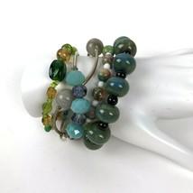 Costume Jewelry Lot Vtg to Modern Glass Stone Beads Boho Artisan Bracelets - $24.74