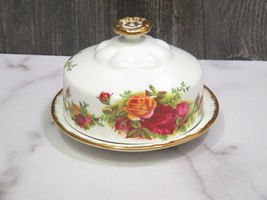 Royal Albert Old Country Roses Round Covered Round Butter Pat with Lid E... - $43.56