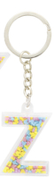Disney Parks Mickey Mouse Bead Letter Z Initial Keychain NEW - $15.90