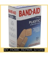 FREE S&H! 30  ASSORTED BAND-AID PLASTIC COMFORT-FLEX BANDAGES / TAPERED ... - $6.88