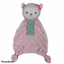 Carters Child of Mine Pink CAT Rattle Security Blanket Plush Lovie Lovey* - $13.85