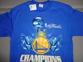NWT Blue Golden State Warriors 2015 NBA Finals Champions Basketball T Shirt M image 5