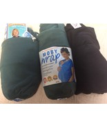 MOBY WRAP Cotton Knit ERGONOMIC Baby Carrier up to 35 lbs Black Pine Gre... - $28.86+
