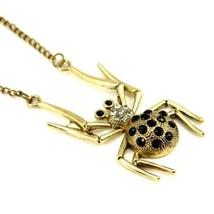 Spinne Halskette 7cm Antik Bronze Silberfarbiges Metall Charm Anhänger 71.1cm - $5.88